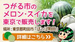 つがる市のメロン・スイカを東京で販売します!
